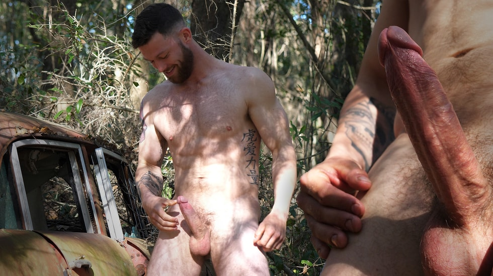 Bearded Man with a Big Veined Dick