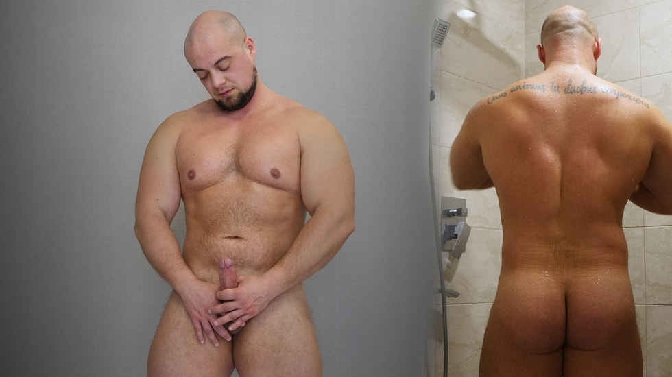 Naked Russian Strong Man
