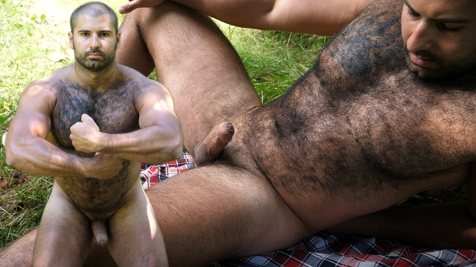 Naked Russian Bear in the Woods