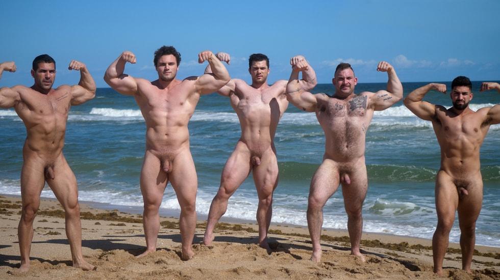 Muscle Men Nude Beach 2