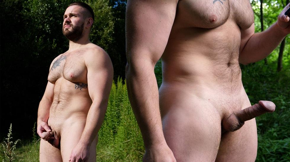 Big Pec Russian In The Woods